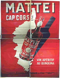 affiche mattei cap corse 1930