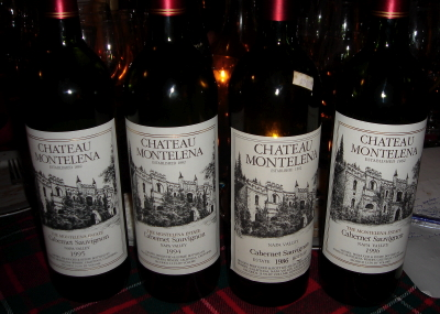 1986,1994,1995, and 1996 chateau montelena